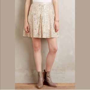 NWT Anthropologie Sequined Mezza skirt sz 4 C0286